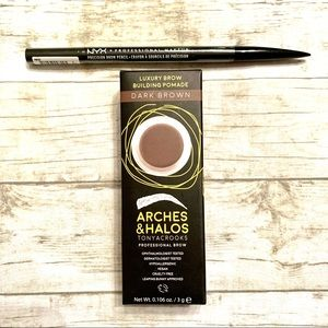 NYX Brow Pencil & Arches Halos Brow Pomade - Brown